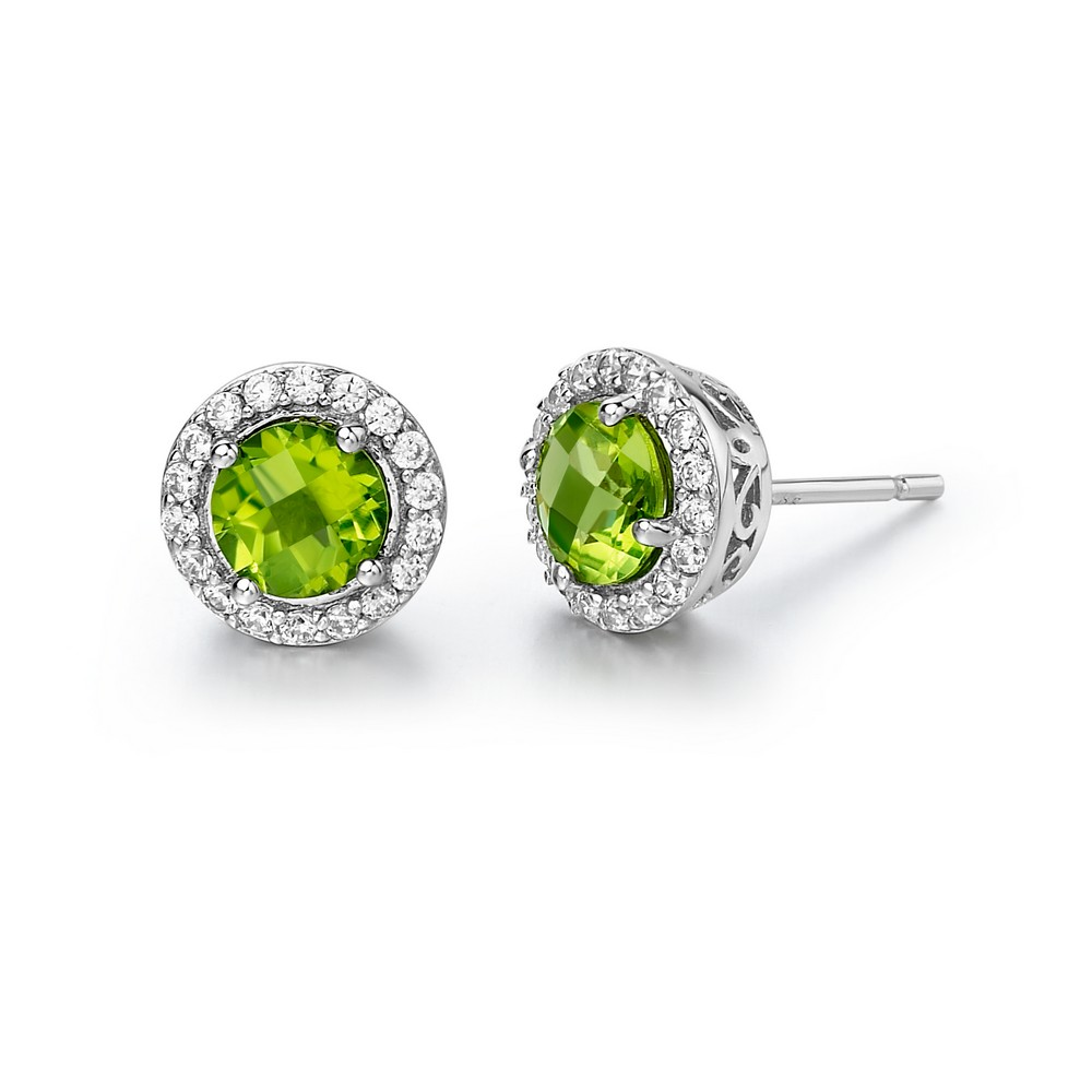 LaFonn Earrings - GEM ER PERIDOT/CL S.S. PT SIMULATED 0.36 CTTW PER RD:6.00MM ( SET: GR006PDP, GP006PDP18 )