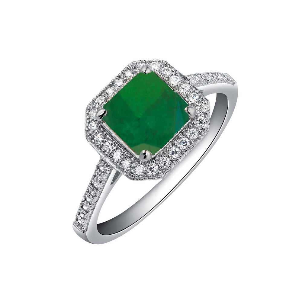 LaFonn Rings - RG CL/EMERALD S.S. PT #5 1.62 CTTW PRINCESS CUT ( SET: E0038CEP, P0017CEP )