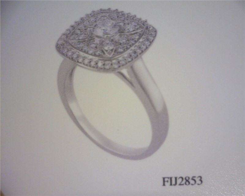 Women's Diamond Fashion Rings - Fashion Ring - image #2