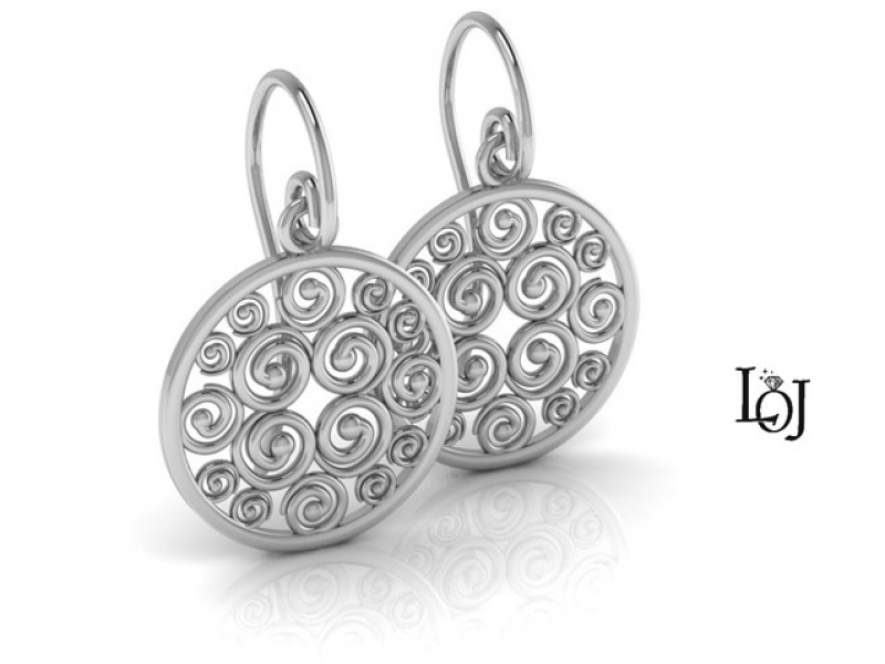 Silver Earrings supporting Cancer Research