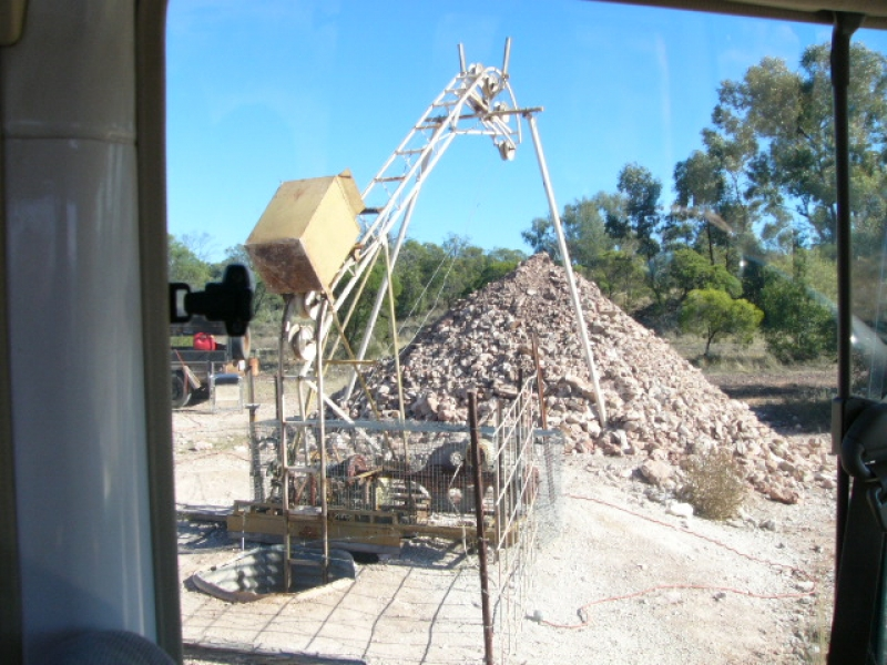 Mine in Lightning Ridge, Australia