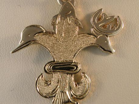 Sportsman Pendant - 14 karat yellow gold