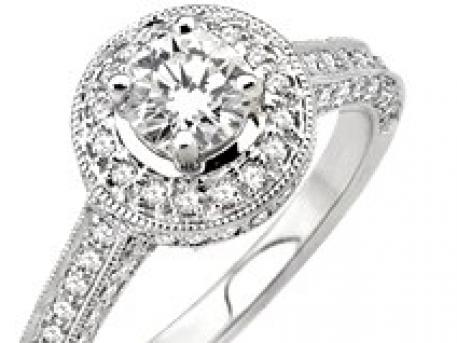 Bridal - white gold & diamond ring