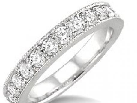 Bridal - white gold diamond band