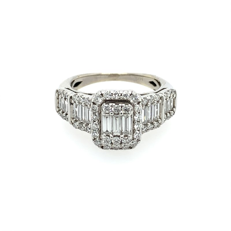 Diamond Engagement Rings - Diamond Cluster Engagement Ring