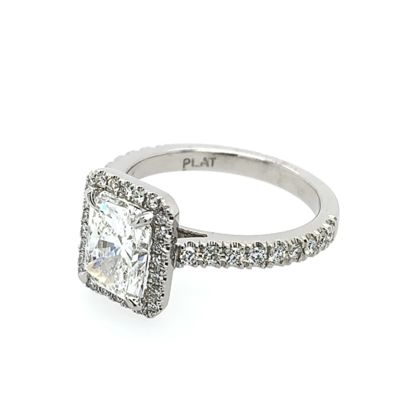 Diamond Engagement Rings - Radiant Cut Diamond Engagement Ring - image #2
