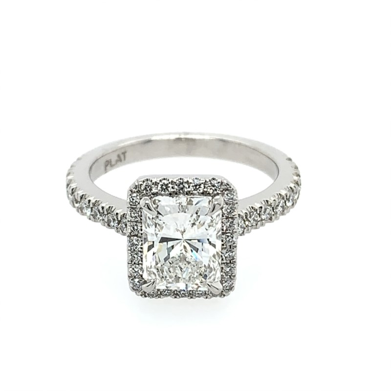 Diamond Engagement Rings - Radiant Cut Diamond Engagement Ring