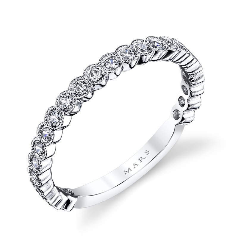 Women's Diamond Wedding Bands - Diamond Band - image #2