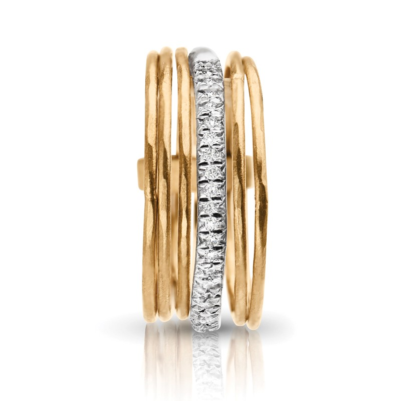 Womens Diamond Fashion Rings - Multi Stack Diamond Fashion Ring