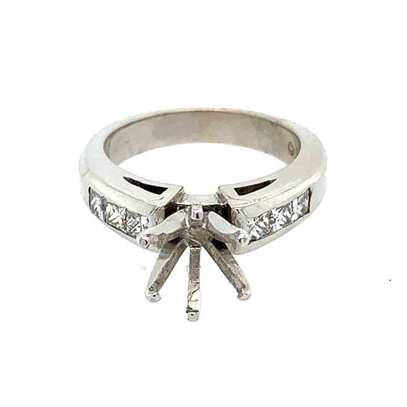 Diamond Semi-mount Rings - Princess Cut Semi Mount