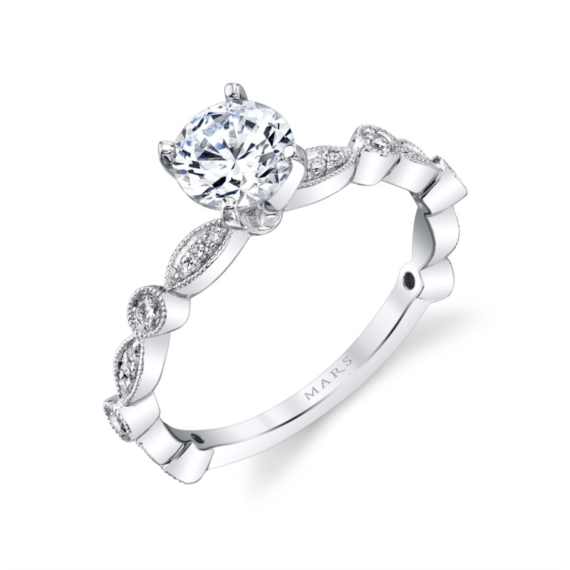 Diamond Semi-mount Rings - Ring