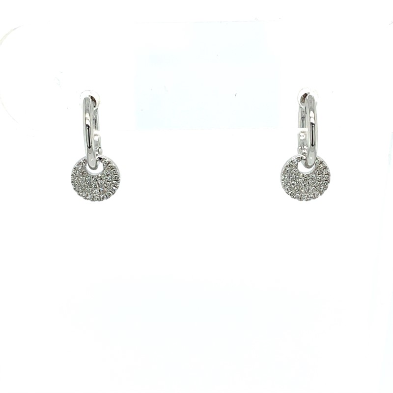 Diamond Earrings - Diamond Huggies - image #2