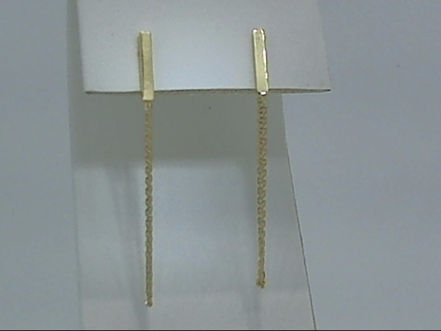 Precious Metal (no Stones) Earrings - Gold Earrings - image #2