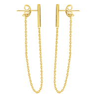 Precious Metal (no Stones) Earrings - Gold Earrings