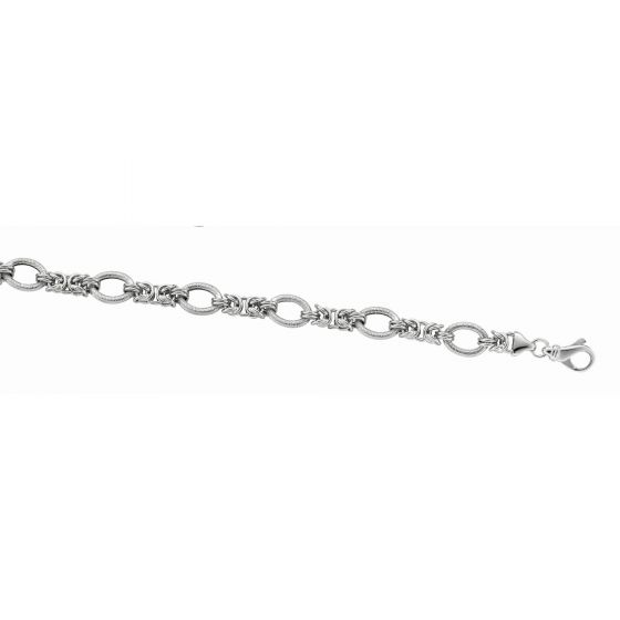 Silver Necklaces - Sterling Silver Byzantine Link Necklace