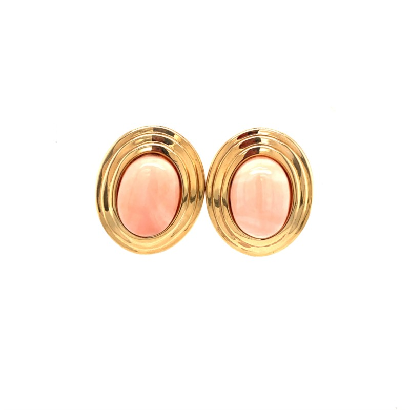 Estate Jewelry - Estate Pink Coral Earrings