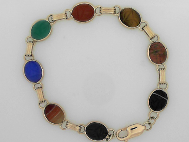 Estate Jewelry - Estate Scarab Bracelet - image #2