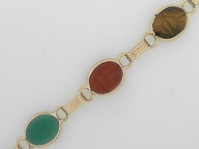 Estate Jewelry - Estate Scarab Bracelet