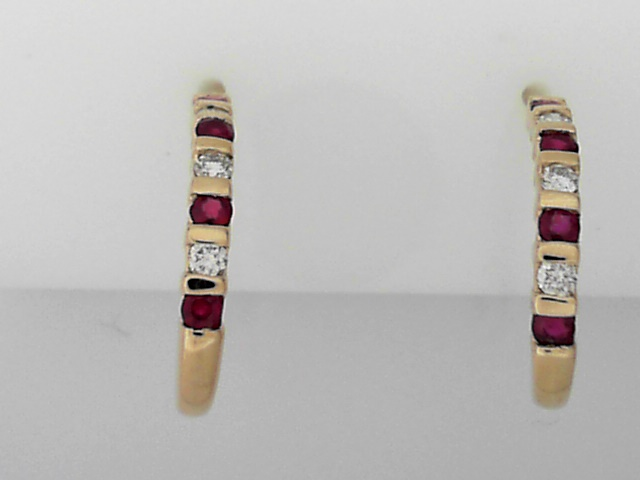 Estate Jewelry - Estate Ruby & Diamond Earrings