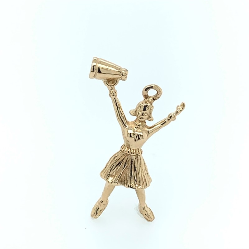 Estate Jewelry - Vintage Cheerleader Charm