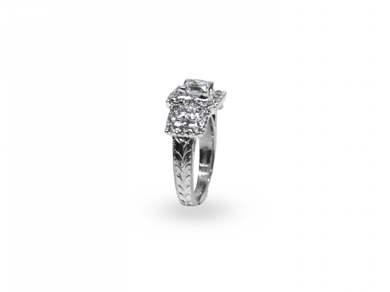 Shop Hand Crafted and Hand Engraved Engagement Rings Online.  Browse our selection of Engagement Rings made one pi - image #2