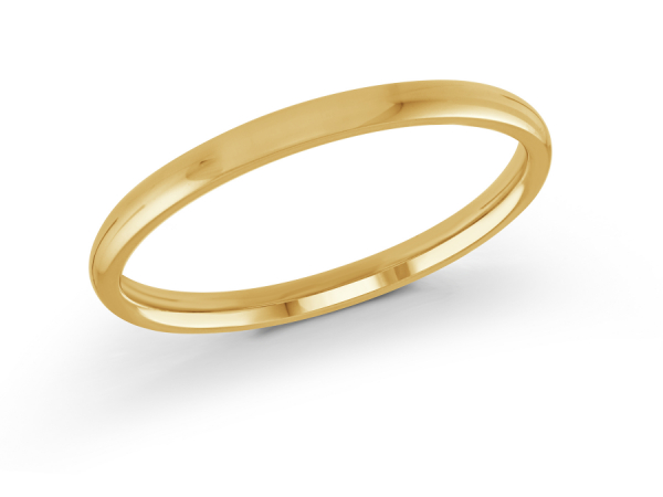 14K Yellow Gold Ladies Wedding Band -