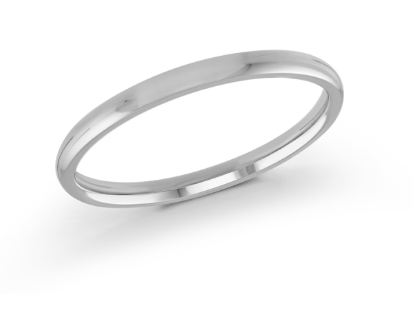 14K White Gold Ladies Wedding Band  -