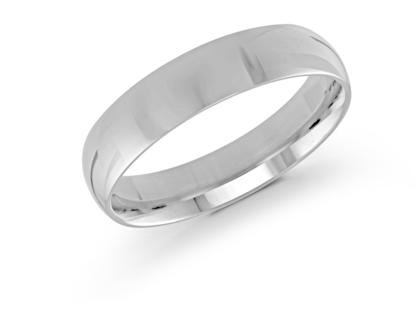 a363b52a3 14k White Gold Mens Wedding Band J-100-520G11 | Wedding Bands from ...