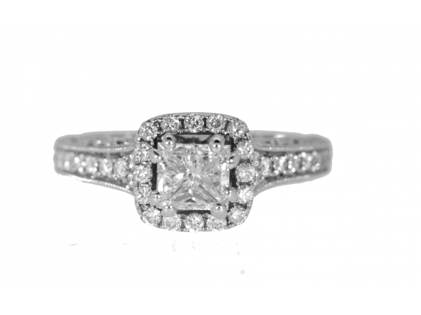 Diamond Engagement Rings - 14kwg Diamond Engagement Ring - image #2