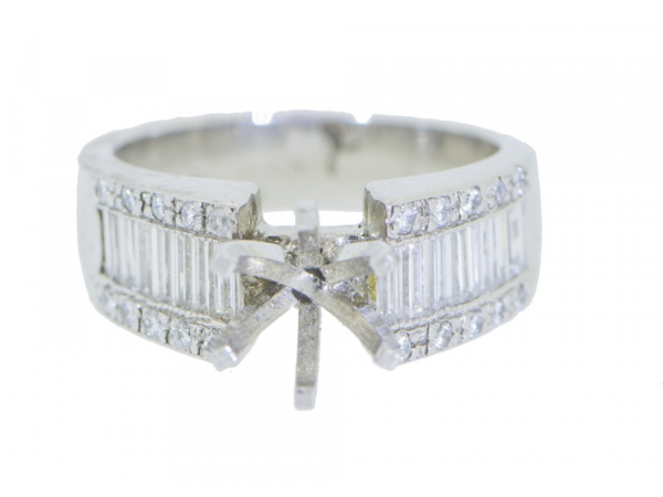 Diamond Engagement Rings - Platinum Diamond Semi-Mount