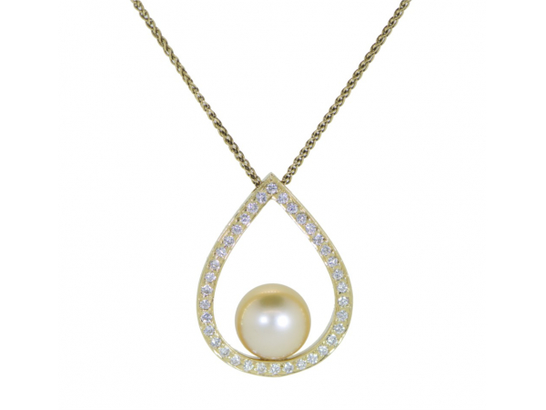 14kyg golden south sea pearl and diamond necklace 001 280 00007 14kyg golden south sea pearl and diamond necklace 001 280 00007 pearl necklaces from lalonde jewelers gemologists grosse pointe farms mi aloadofball Gallery