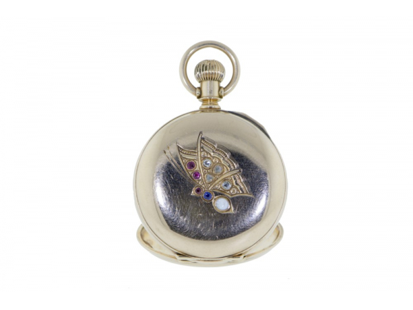 Certified Preowned / Vintage - 14kyg Antique Waltham Butterfly Pocketwatch