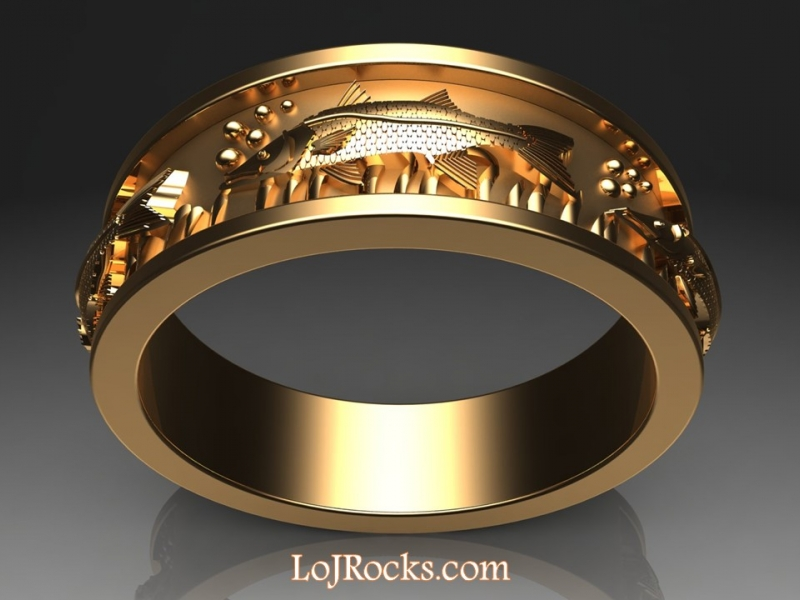 Fish Ring in 14kt Yellow Gold