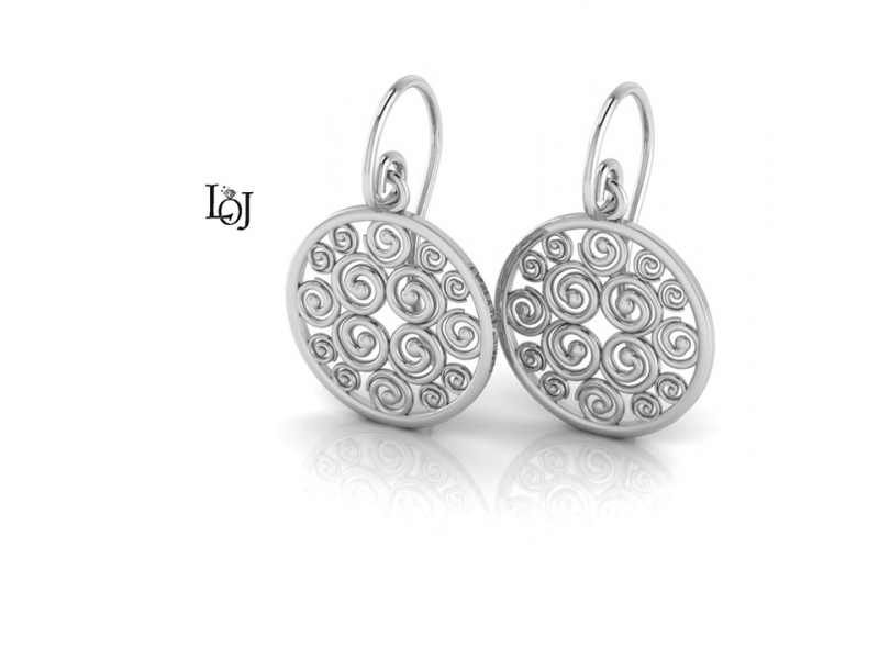 Silver Earrings supporting Cancer Research, Sisterhood Collection