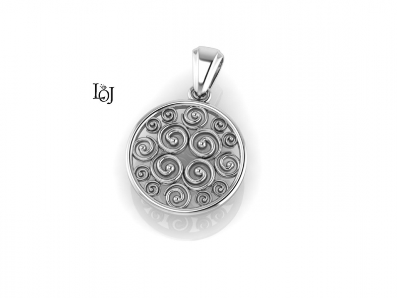 Silver Pendant supporting Cancer Research, Sisterhood Collection