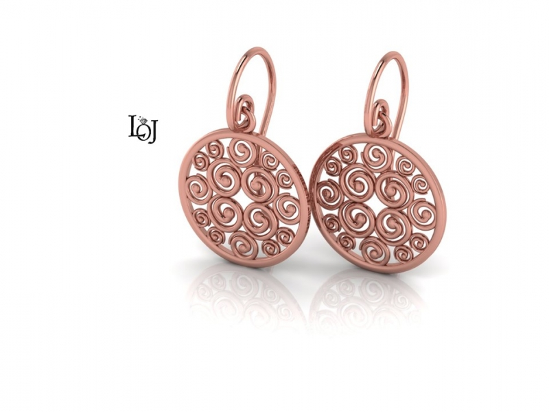 Rose Gold Earrings, Sisterhood Collection for Cancer Research