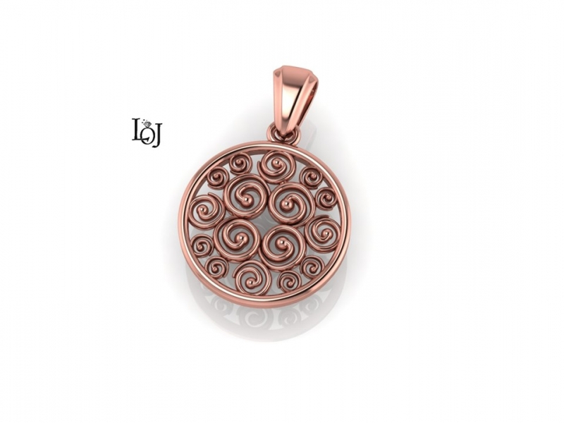 Rose Gold Pendant, Sisterhood Collection for Cancer Research, small