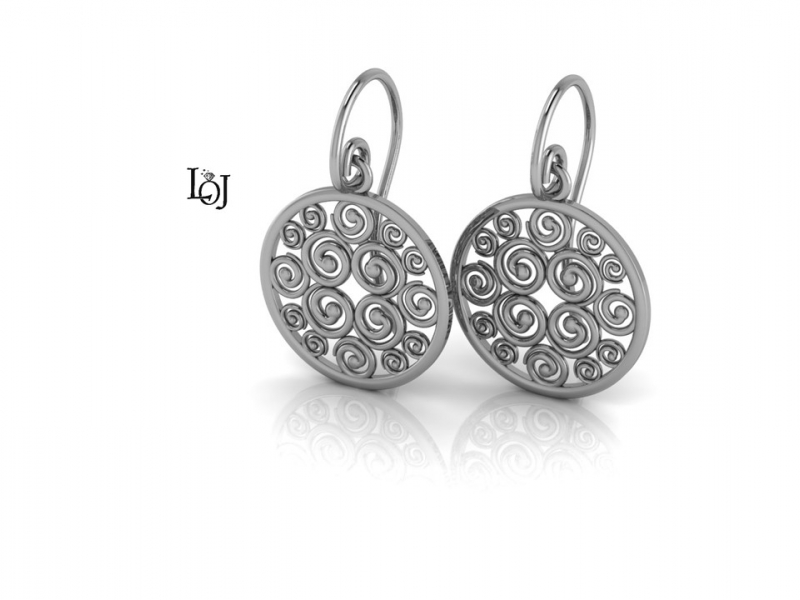 White Gold Earrings supporting Cancer Research, Sisterhood Collection