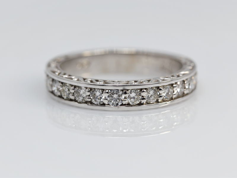 wedding band, diamond wedding ring, diamond wedding band, white gold wedding band  - Cherished