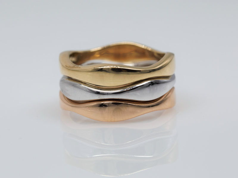 Rings - Wave Stackable Rose Gold - image 2