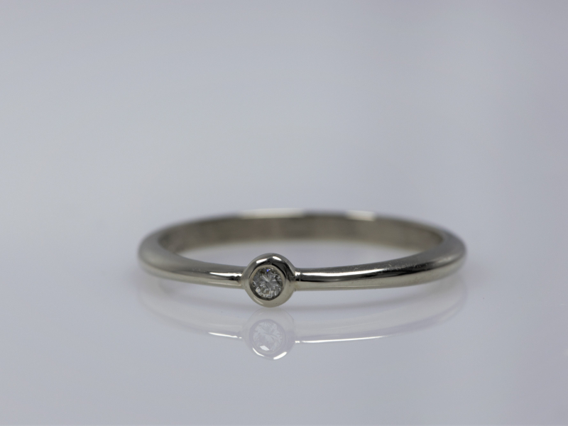 dainty stack ring, stack ring with diamonds, custom stackable ring, custom rings, custom rings in Palm Harbor - Promise Ring