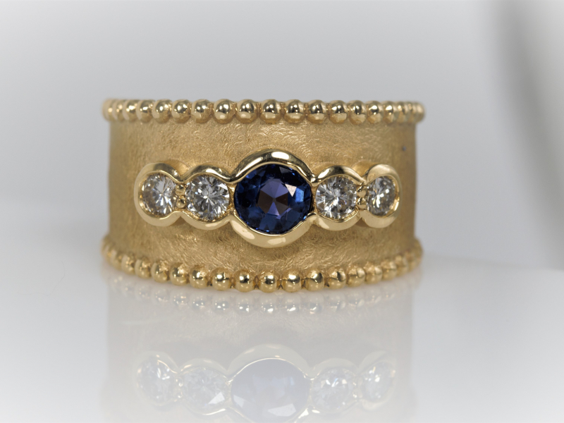 Rings in Diamond, Gemstone, Gold, Silver both designer and custom handmade are among our collection.