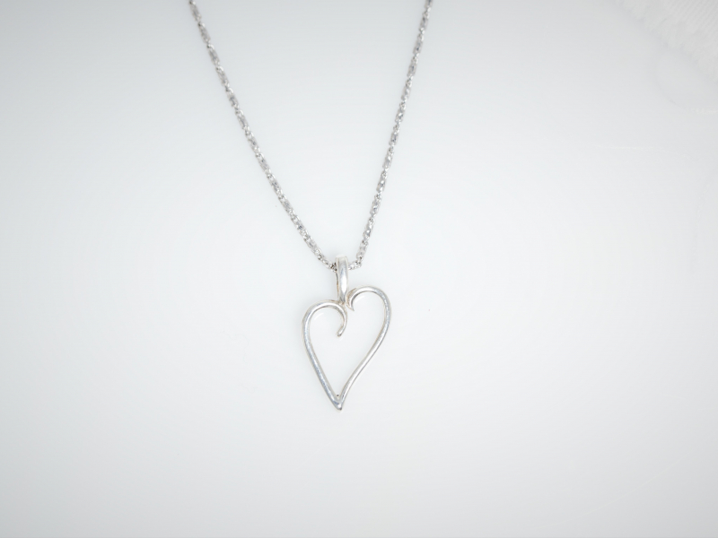 custom heart pendant, sterling silver heart necklace, silver heart necklace, heart pendant , custom heart, valentines day nec