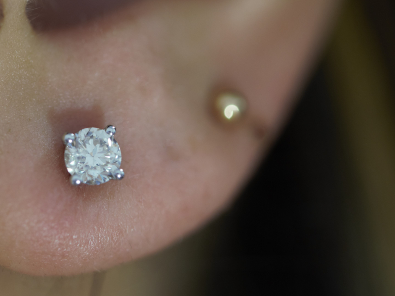 3/4 carat diamond studs, how much are diamond studs, real diamond studs