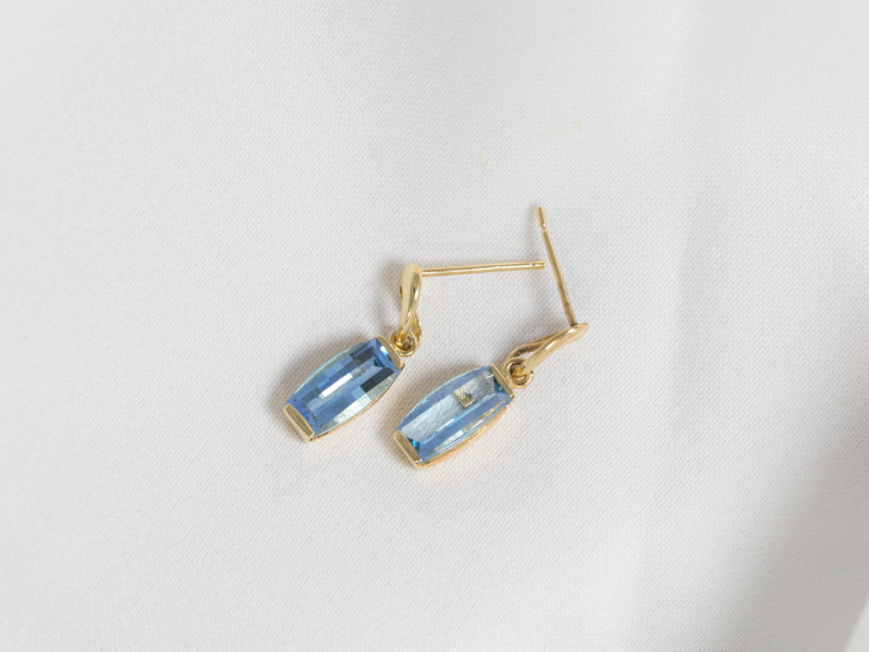 dangle topaz earrings, long topaz earrings, gold topaz earrings,