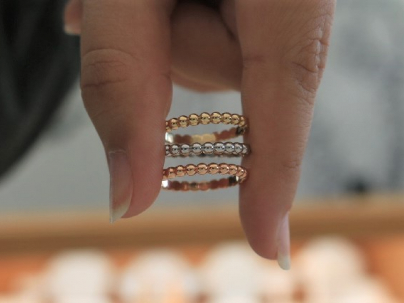 Custom Stackable rings, bubble stackable rings, bubble gold rings