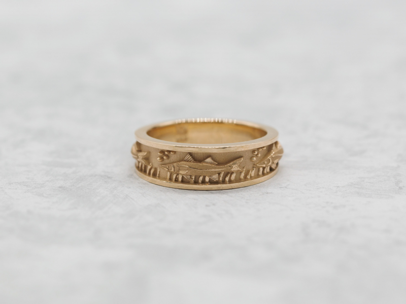 Rings - Snook Ring 14k Gold  7.5mm - image 2