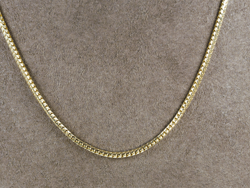 franco chain, yellow gold chain, thick chain, chains for women