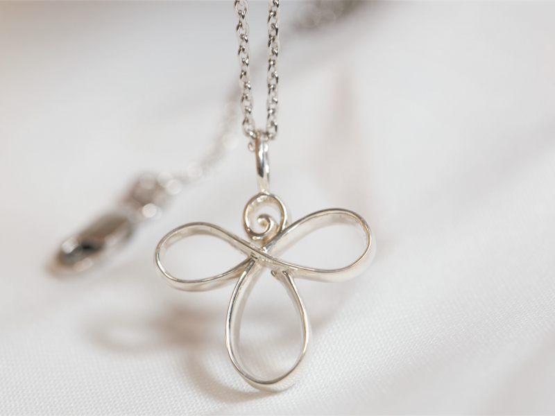 Infinity Angel, Silver Angel pendant, angel necklace, cross, - Infinity Angel Pendant Sterling Silver