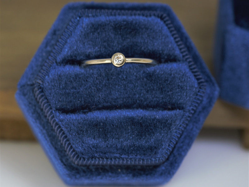 promise rings, diamond ring, dainty diamond ring, cheap promise rings 14k gold Diamond Stackable Ring 14k Yellow Gold